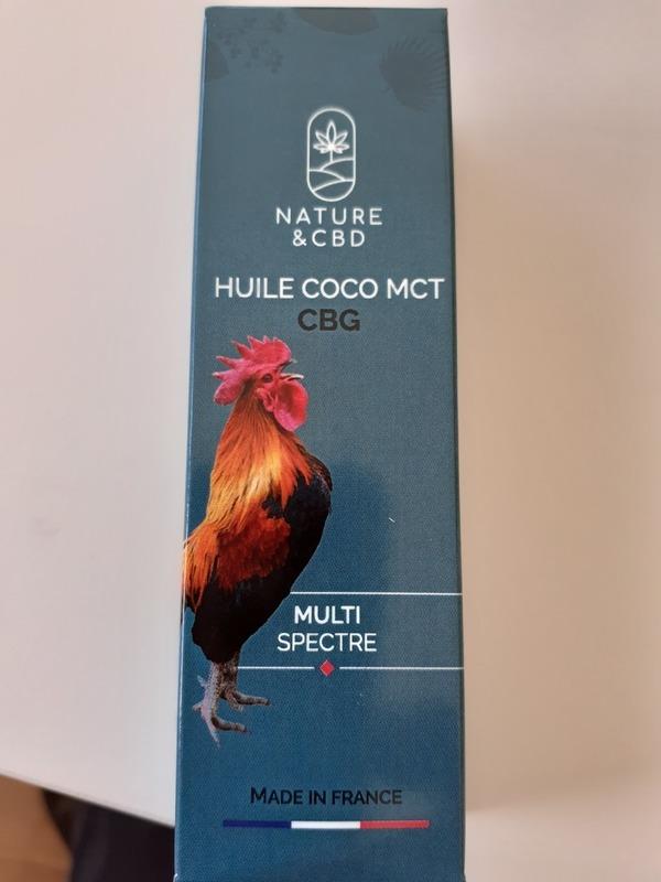 Huile de coco MCT CBG multi spectre 10%